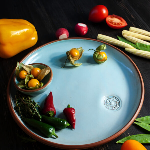 Тарелка круглая Vegan D 25