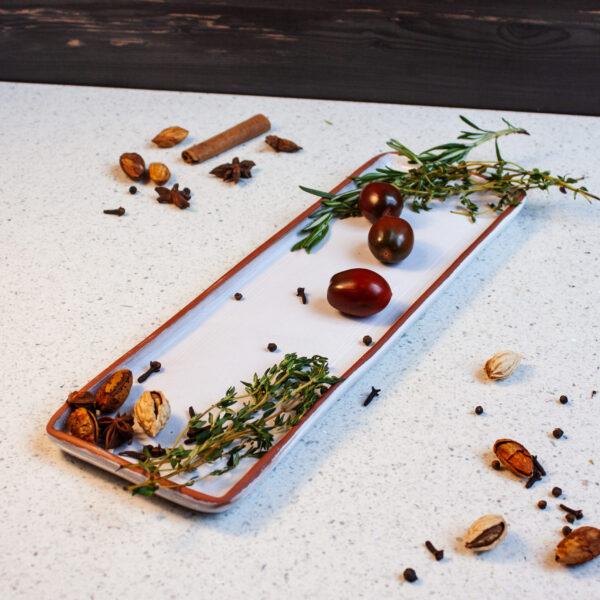 Тарелка для сервировки из керамики Аляска