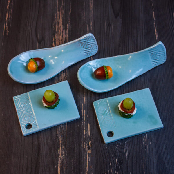 """Набор керамической посуды для кейтеринга """"Бирюза"""" (под заказ)"""