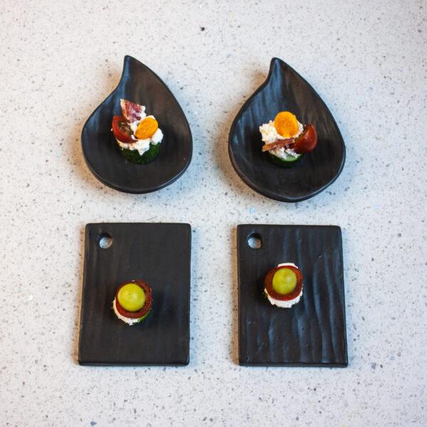 """Керамический Набор посуды для кейтеринга """"Морион"""" (под заказ)"""