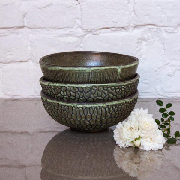 Салатник керамический D 170 рельеф Бали Oliva