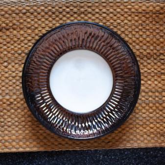 Тарелка круглая для пасты керамическая D 260 Бали Gold