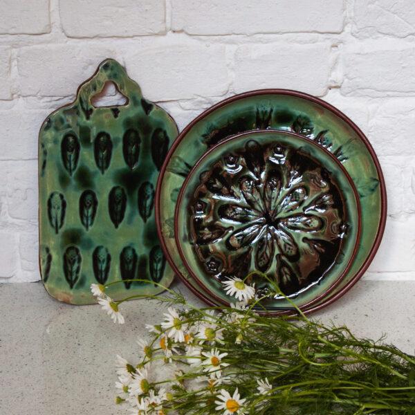 Набор посуды керамический Павлинье перо