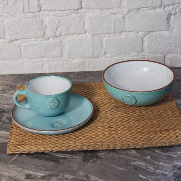 Набор посуды из керамики Семейный коллекция VEGAN