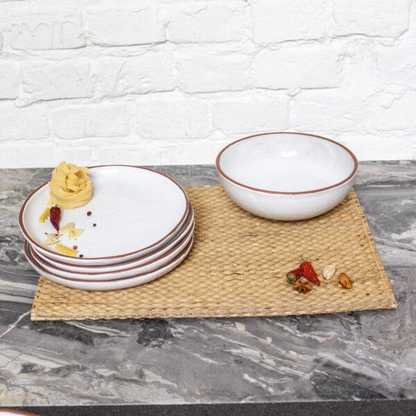 Набор посуды керамика Семейный коллекция Аляска