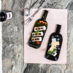 Доска для подачи закусок Бутылка