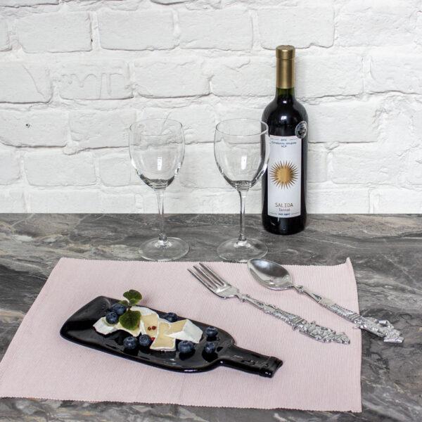 Доска для подачи закусок из керамики Бутылка