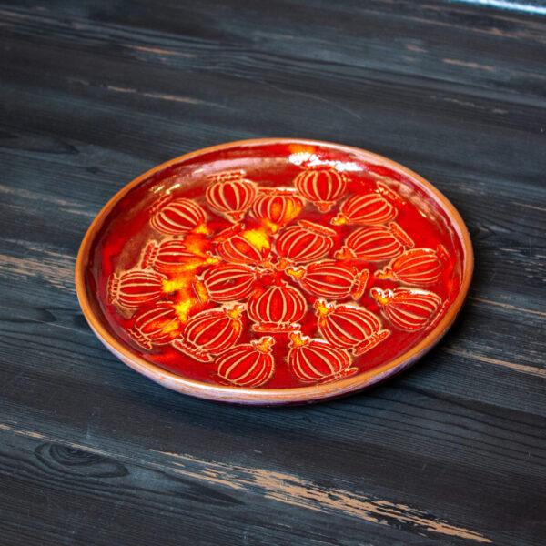 Тарелка круглая керамика Мак D 230