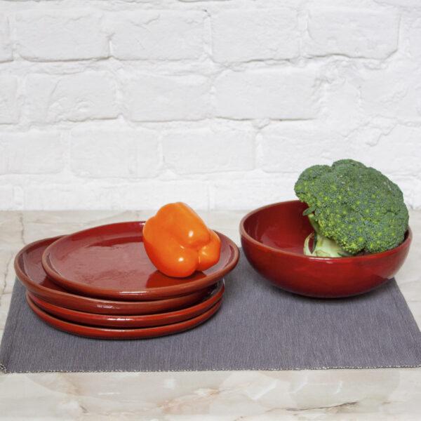 Набор красной посуды Семейный коллекция Инкоу