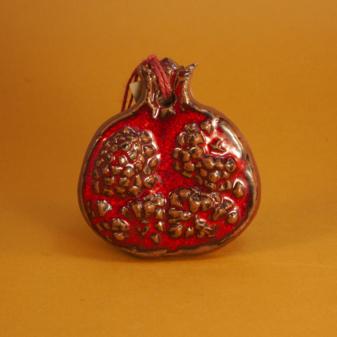 Подвеска керамика Гранат красный
