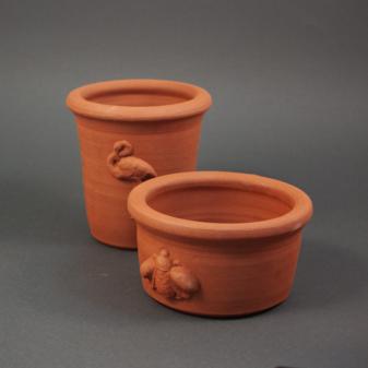 Кашпо керамическое Английский сад (S) насекомые