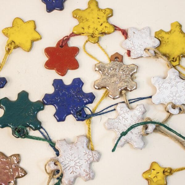 Керамика Подвеска-елочная игрушка Снежинка