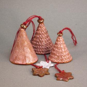 Колокольчики новогодние-7 керамика