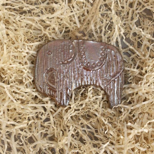 Подвеска-елочная игрушка Слон-1 керамика