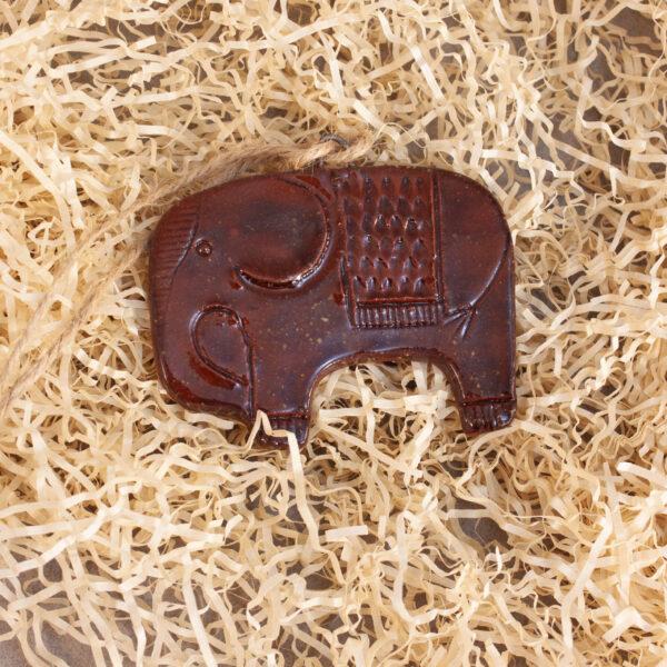 Подвеска-елочная игрушка Слон-2 керамическая