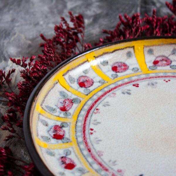 """Тарелка с росписью керамика """"Цветочный орнамент"""" №6 (под заказ)"""