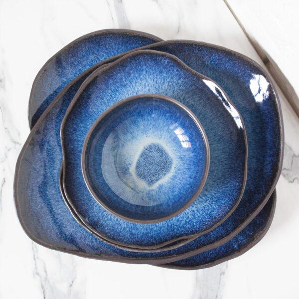 Тарелка круглая керамика Этно Galaxy