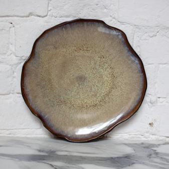 Терракотовая Тарелка круглая Этно Макадамия