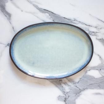 Тарелка керамическая овальная Basic Бали Crocus