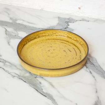 Желтая керамическая Тарелка Next D220 H35 Шафран