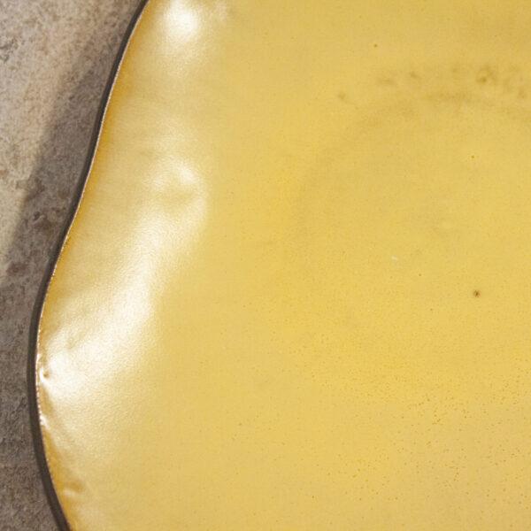 Блюдо овальное керамическое Этно Бали Шафран