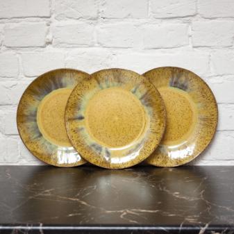 Тарелка с полями керамика Гавайи Шафран