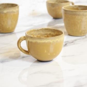 Чашка из керамики Крафт Шафран