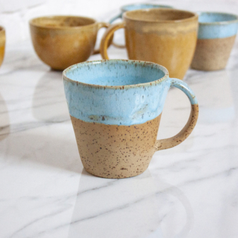 Чашка из керамики Кантри Голубой лед