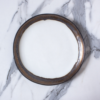 Тарелка круглая керамическая Basic Gold Accent