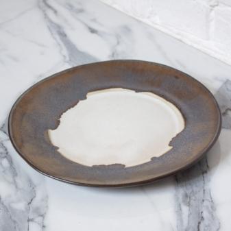 Тарелка с полями из керамики Gold Accent