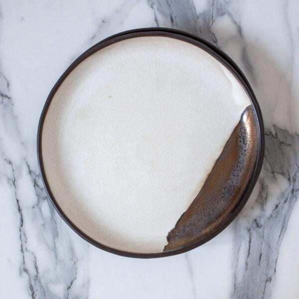 Тарелка керамическая круглая Casual Бали Gold Accent