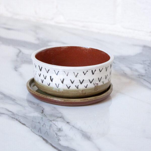 Мини-горшок под суккуленты и кактусы из керамики