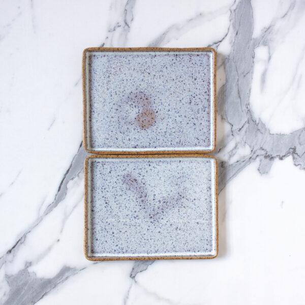 Тарелка прямоугольная керамика 230х180 Гавайи Орхидея