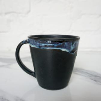 Черная керамическая Чашка Кантри Пантера