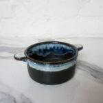 Черный керамический Горшочек для запекания Пантера
