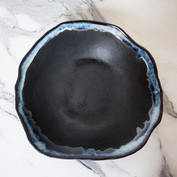 Черный керамический Салатник круглый Этно Пантера