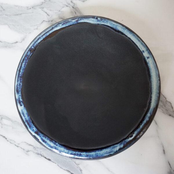 Черная Тарелка из керамики Bagel Casual Бали Пантера