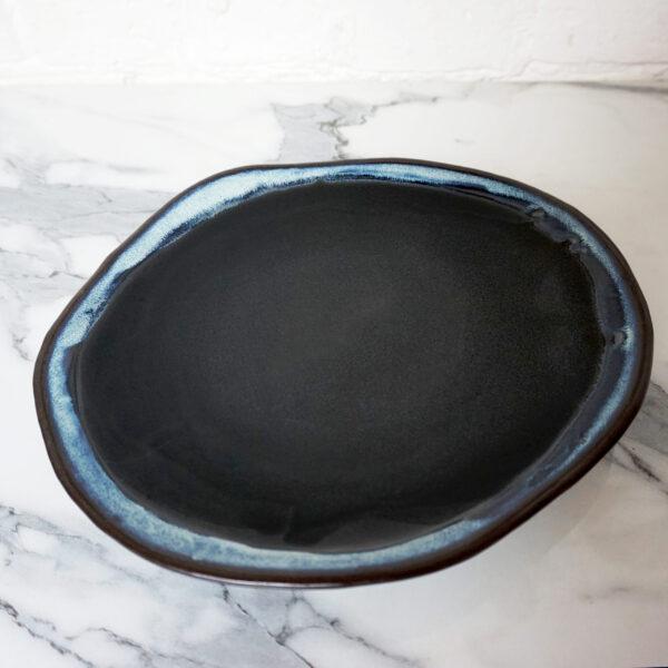 Керамическое Блюдо овальное Этно Пантера