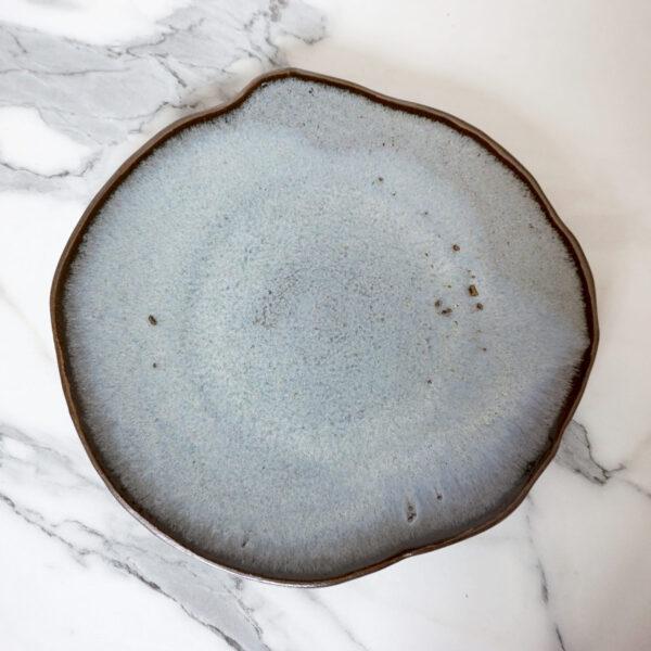Тарелка круглая ручной работы и отделки Этно Бали Moon Sea