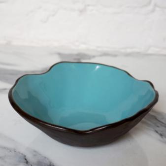 Синяя керамическая Миска Этно Бали Тиффани