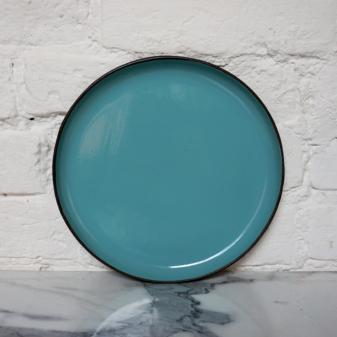 Синяя керамическая Тарелка круглая Basic Бали Тиффани