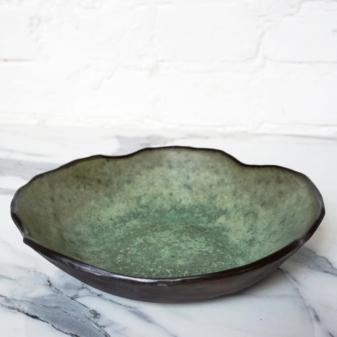 Зеленый керамический Салатник Этно Olive