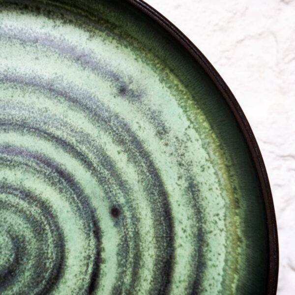 Зеленая Тарелка из керамики Next D220 H35 Бали Olive