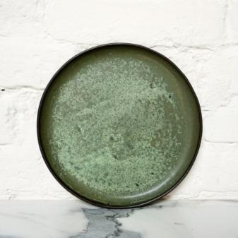 Зеленая керамическая Тарелка круглая Casual Бали Olive