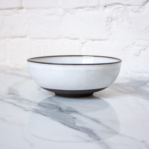Белый керамический Салатник боул White Bali