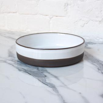 Белая Тарелка из каменной керамики Next White Bali D220 H60