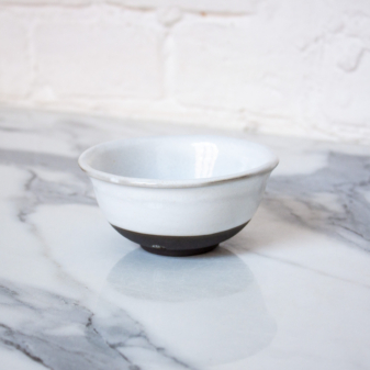 Миска пиала из керамики White Bali D100 H45