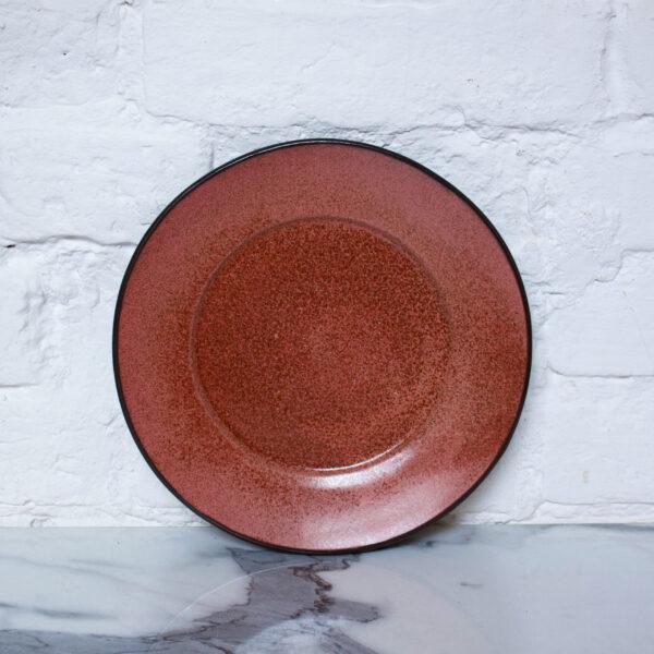 Коричневая керамическая Тарелка с полями Бали Коралл
