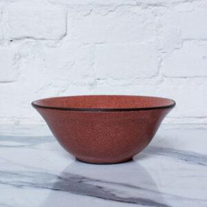 Коричневая Миска тюльпан из керамики Бали Коралл