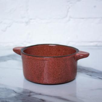 Коричневый Горшочек для запекания из керамики Коралл